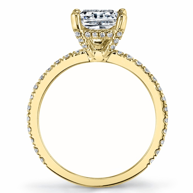 Diamond Encrusted Pave Engagement Ring in Yellow Gold by Parade | 03