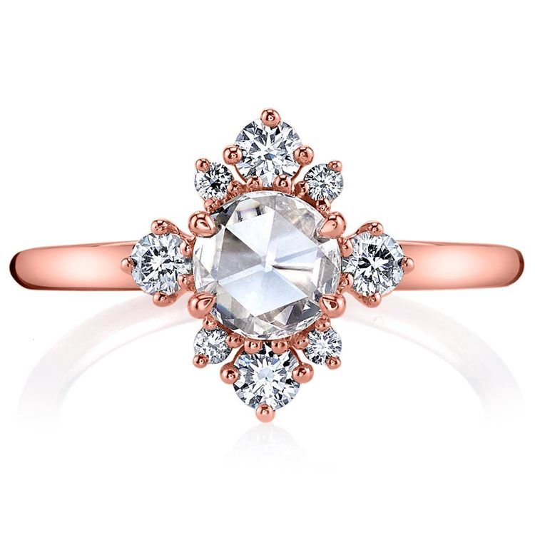 Fancy Illuminated Halo Diamond Ring in Rose Gold by Parade | 02