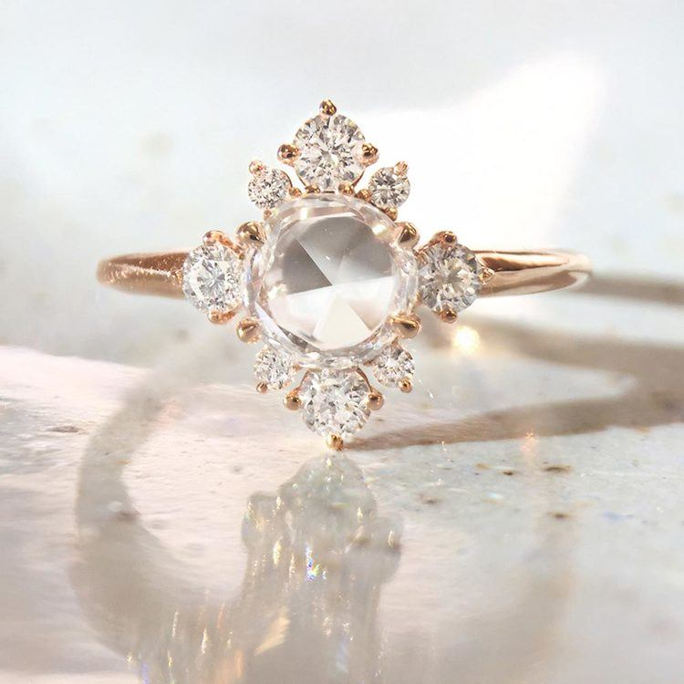 Fancy Illuminated Halo Diamond Ring in Rose Gold by Parade | 04