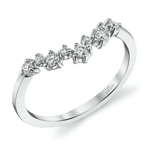 Illuminating Chevron Diamond Wedding Ring in White Gold by Parade