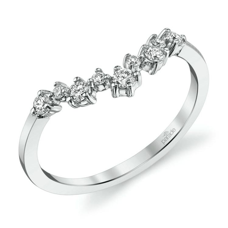 Illuminating Chevron Diamond Wedding Ring in White Gold by Parade | 01
