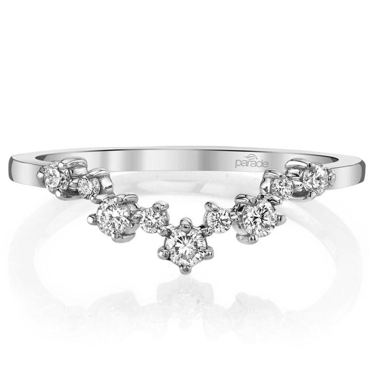 Illuminating Chevron Diamond Wedding Ring in White Gold by Parade | 02