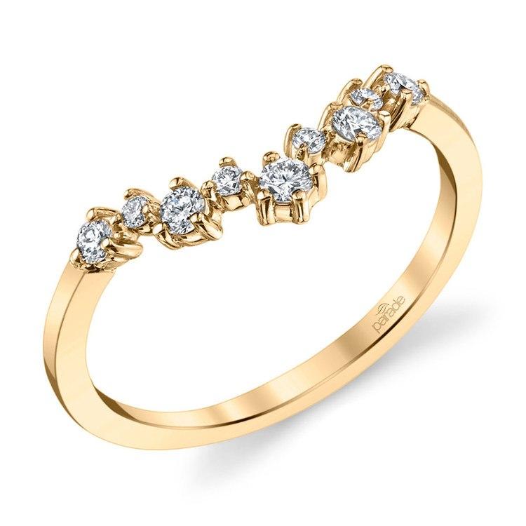 Illuminating Chevron Diamond Wedding Ring in Yellow Gold by Parade | 01