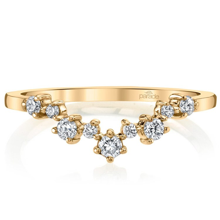 Illuminating Chevron Diamond Wedding Ring in Yellow Gold by Parade | 02