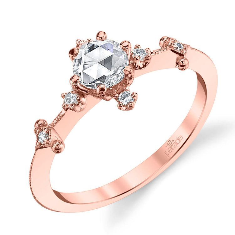 Illuminating Rose Cut Diamond Engagement Ring in Rose Gold by Parade | 01
