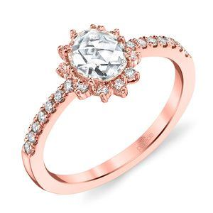 Illuminating Sun Halo Diamond Ring in Rose Gold by Parade