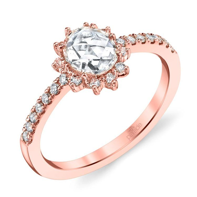 Illuminating Sun Halo Diamond Engagement Ring in Rose Gold by Parade | 01