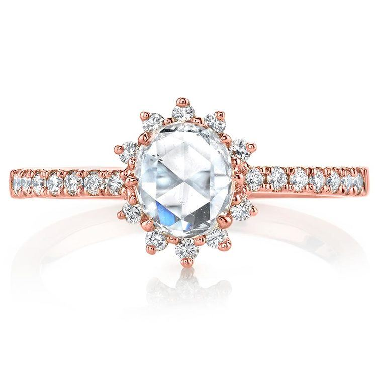 Illuminating Sun Halo Diamond Engagement Ring in Rose Gold by Parade | 02