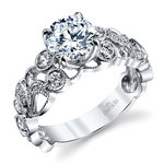 Luxe Lyria Crown Diamond Engagement Ring in White Gold by Parade | Thumbnail 01