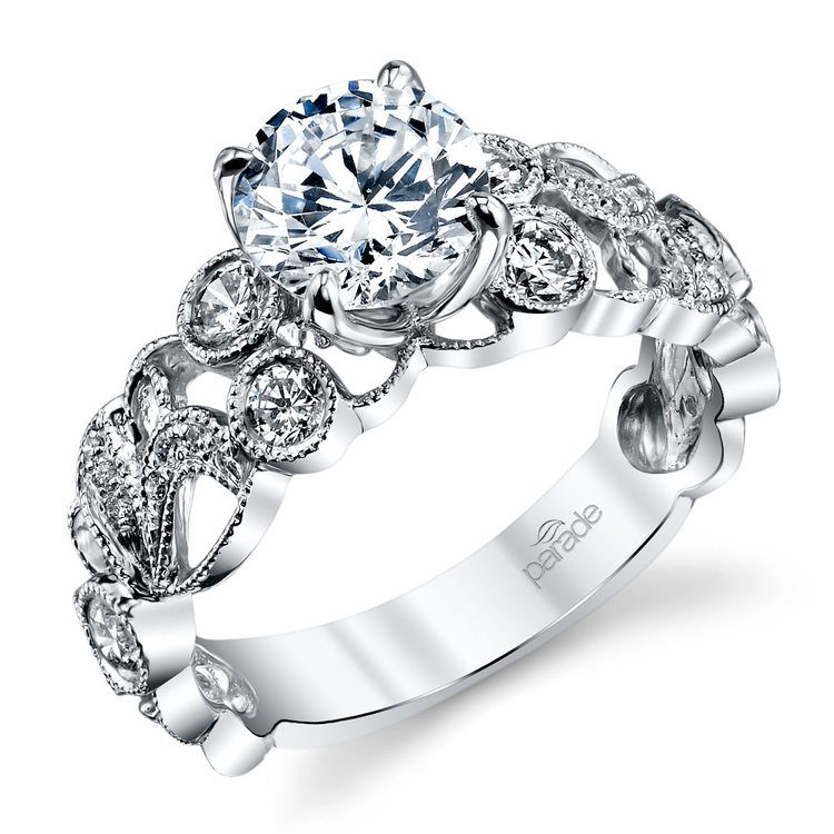 Luxe Lyria Crown Diamond Engagement Ring in White Gold by Parade | 01