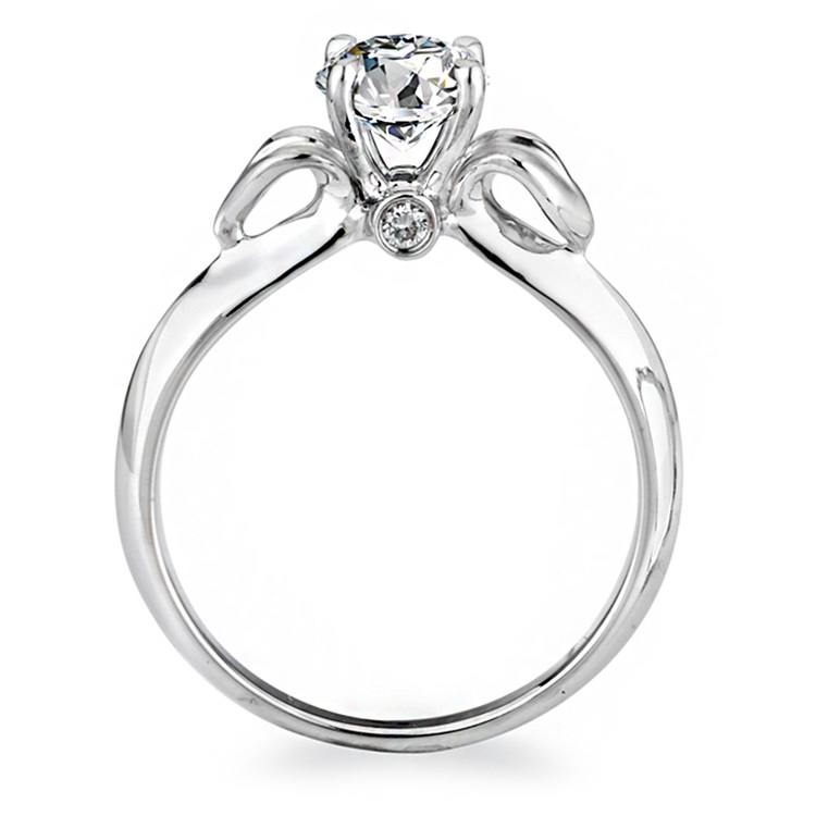 Lyria Budding Rose Engagement Ring in White Gold by Parade | 02