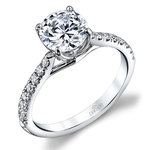 Lyria Crown Cathedral Diamond Engagement Ring in White Gold by Parade | Thumbnail 01