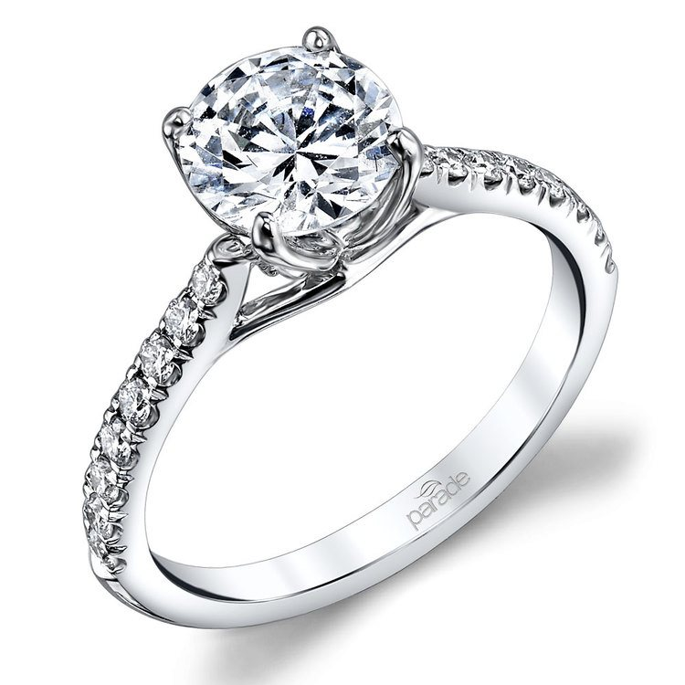 Lyria Crown Cathedral Diamond Engagement Ring in White Gold by Parade | 01