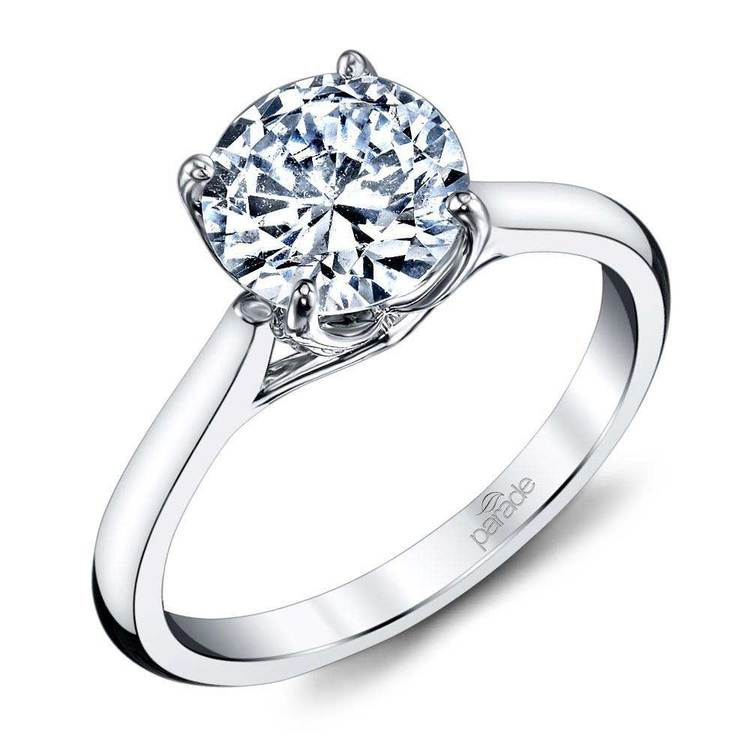 Lyria Crown Cathedral Solitaire Engagement Ring in Platinum by Parade | 01