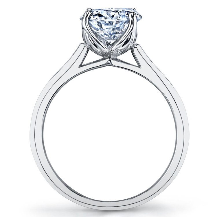 Lyria Crown Cathedral Solitaire Engagement Ring in White Gold by Parade | 03
