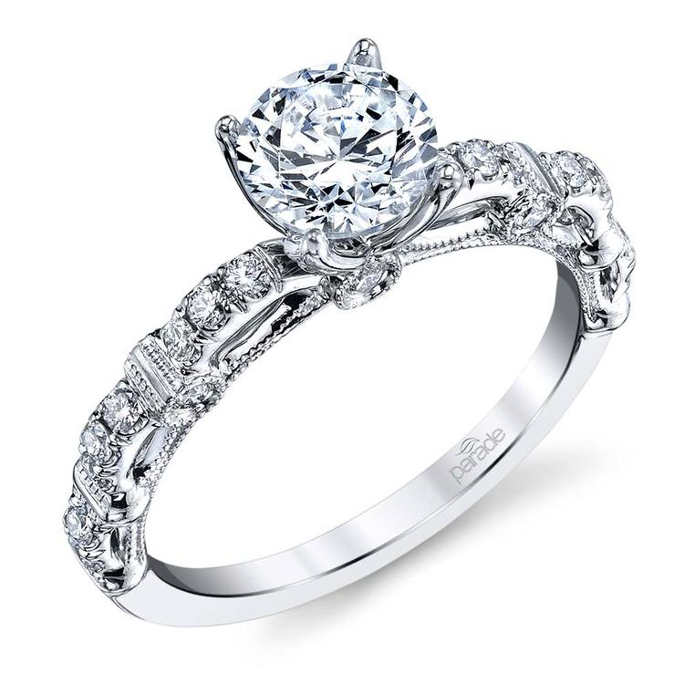 Lyria Crown Hemera Diamond Engagement Ring in White Gold   01