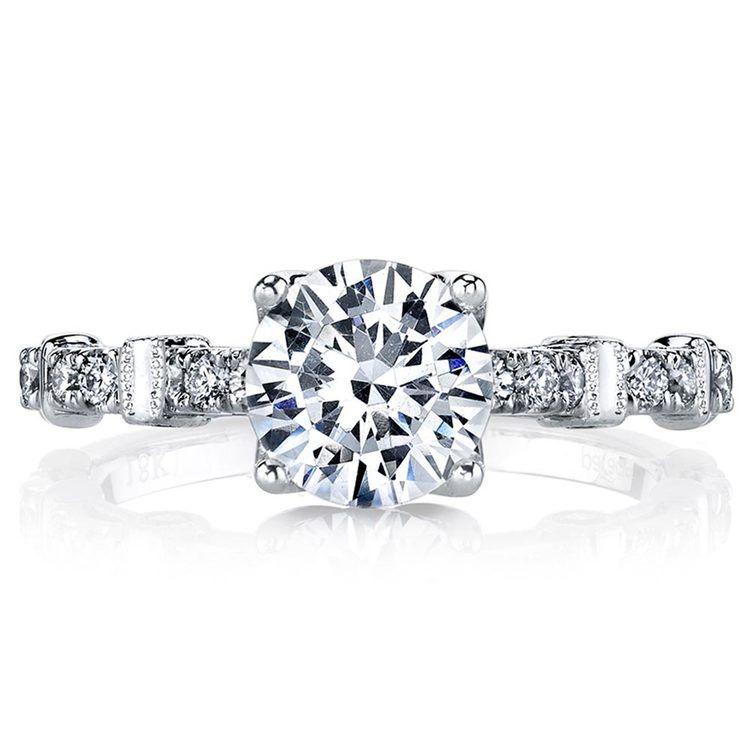 Lyria Crown Hemera Diamond Engagement Ring in White Gold   02