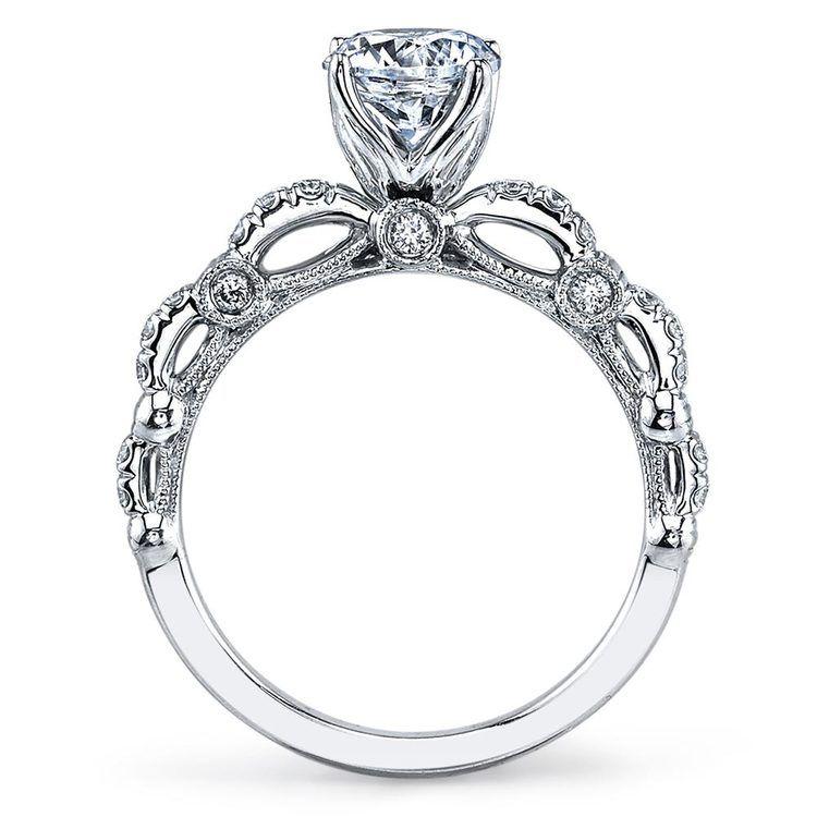 Lyria Crown Hemera Diamond Engagement Ring in White Gold   03