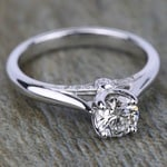 Lyria Crown Surprise Diamond Engagement Ring in White Gold by Parade   Thumbnail 03