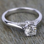 Lyria Crown Surprise Diamond Engagement Ring in White Gold by Parade | Thumbnail 03