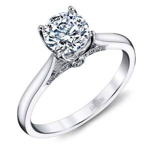 Lyria Crown Surprise Diamond Engagement Ring in White Gold by Parade