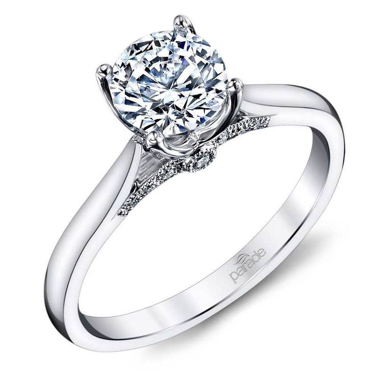 Lyria Crown Surprise Diamond Engagement Ring in White Gold by Parade | 01