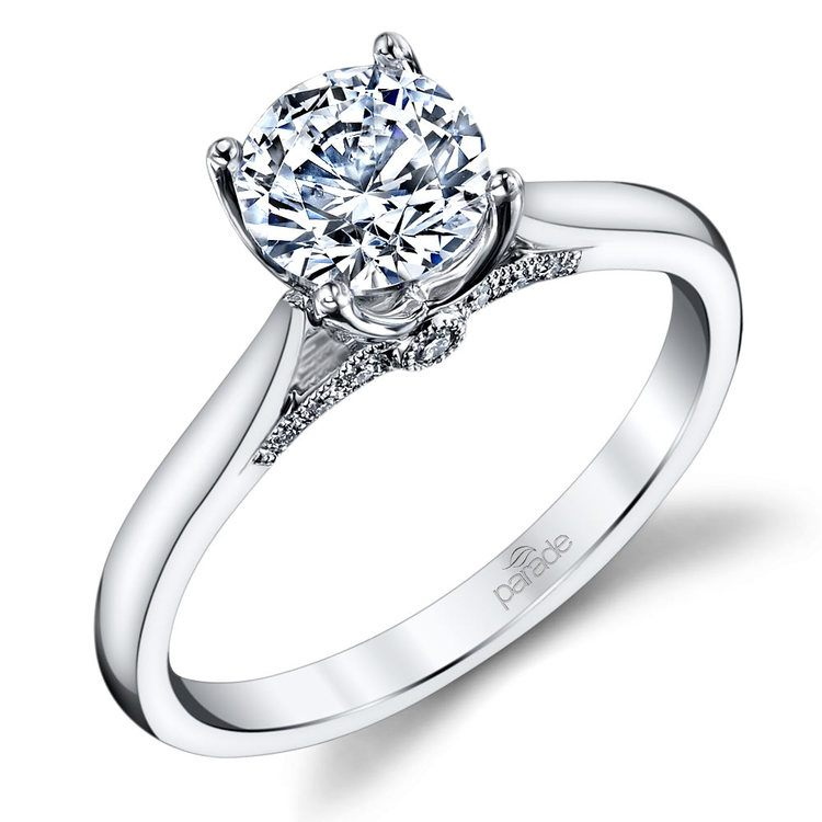 Lyria Crown Surprise Diamond Engagement Ring in White Gold by Parade   01