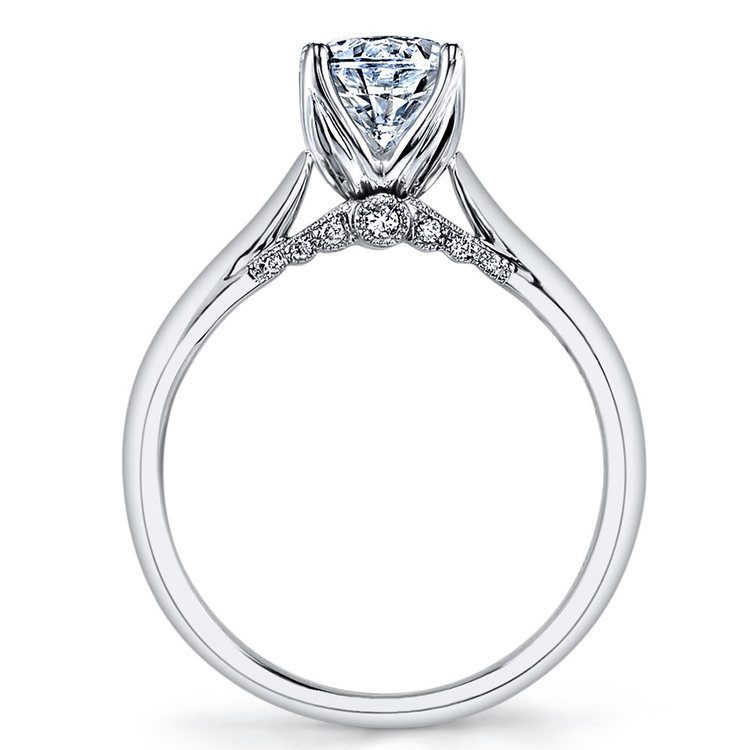 Lyria Crown Surprise Diamond Engagement Ring in White Gold by Parade | 02
