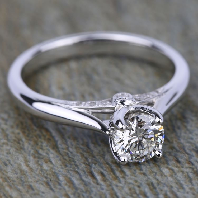 Lyria Crown Surprise Diamond Engagement Ring in White Gold by Parade | 03