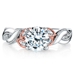 Lyria Crown Twisted Milgrain Diamond Engagment Ring in White and Rose Gold by Parade | Thumbnail 02