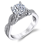 Lyria Crown Twisted Split Shank Diamond Engagement Ring in Platinum by Parade | Thumbnail 01