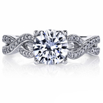 Lyria Crown Twisted Split Shank Diamond Engagement Ring in Platinum by Parade | Thumbnail 03