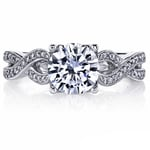 Lyria Crown Twisted Split Shank Diamond Engagement Ring in White Gold by Parade | Thumbnail 03