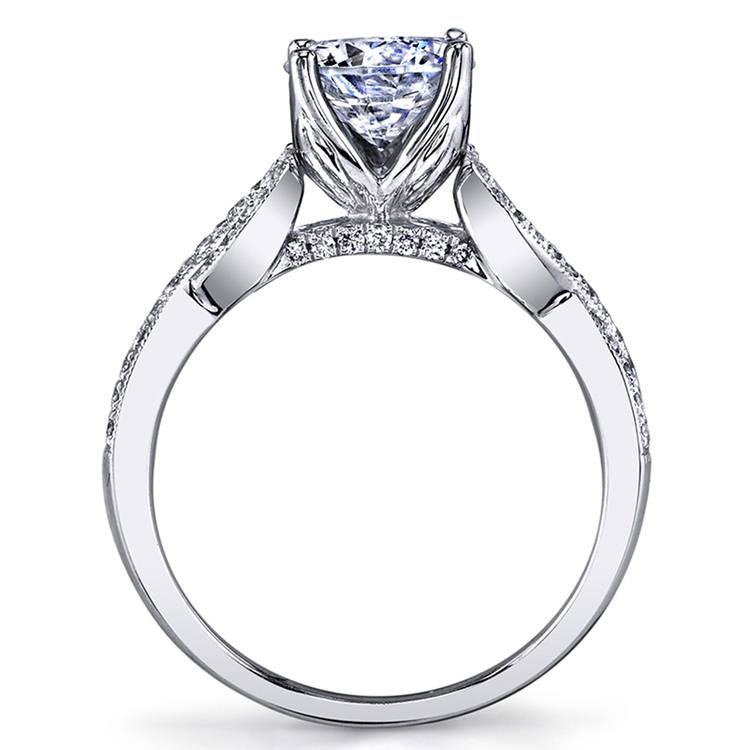 Lyria Crown Twisted Split Shank Diamond Engagement Ring in White Gold by Parade | 02