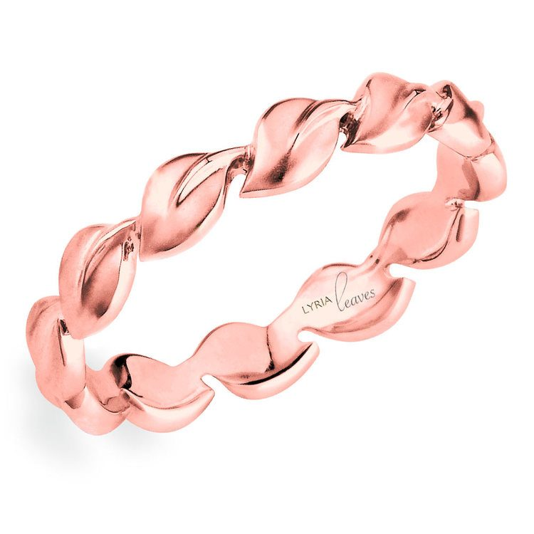 """""""Lyria Leaves"""" Wedding Band in Rose Gold by Parade 