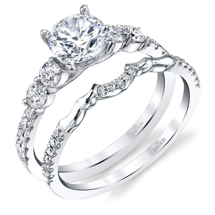 Matching Classic Bridal Diamond Wedding Ring in White Gold by Parade | 02