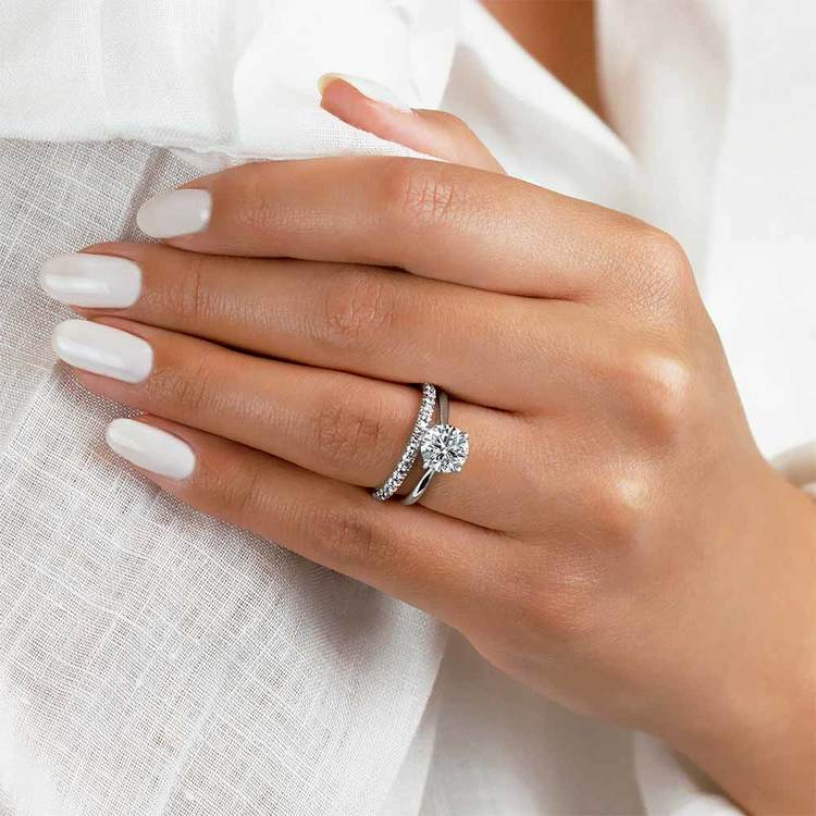Matching Scallop Diamond Wedding Ring in White Gold by Parade | 02