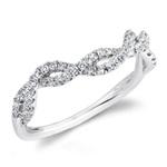 Matching Split Shank Diamond Wedding Ring in White Gold by Parade | Thumbnail 01