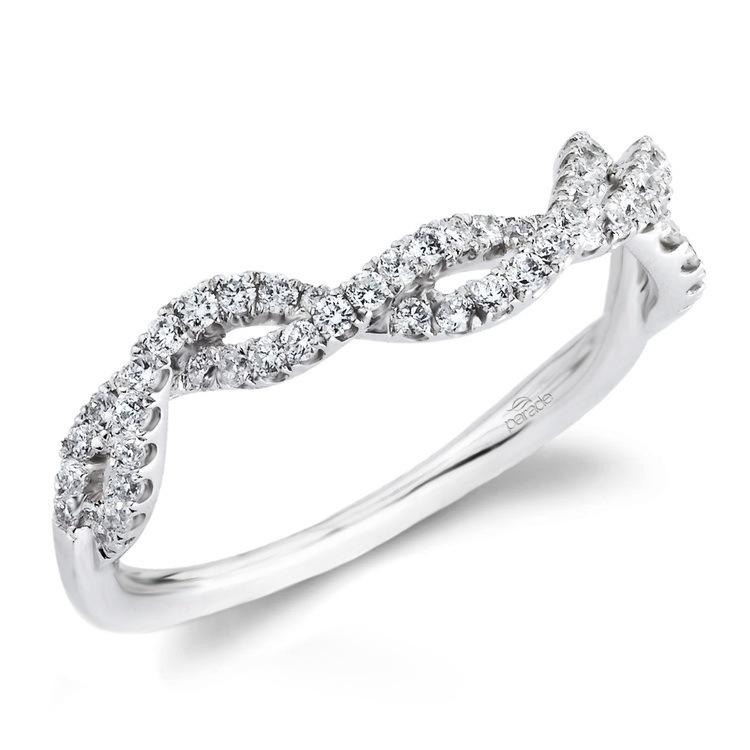 Matching Split Shank Diamond Wedding Ring in White Gold by Parade | 01