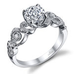 Meandering Scroll Diamond Engagement Ring in White Gold by Parade | Thumbnail 01