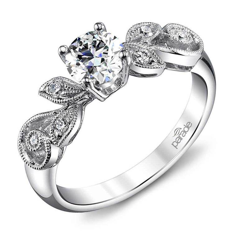 """Meandering Vine """"Lyria Bridal"""" Engagement Ring in Platinum by Parade   01"""