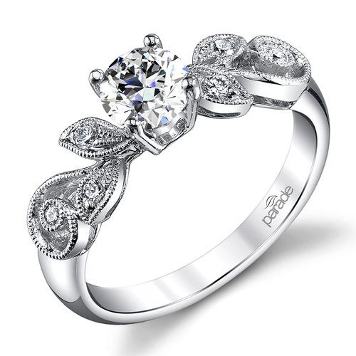 meandering vine diamond engagement ring in white gold by parade - White Gold Diamond Wedding Rings