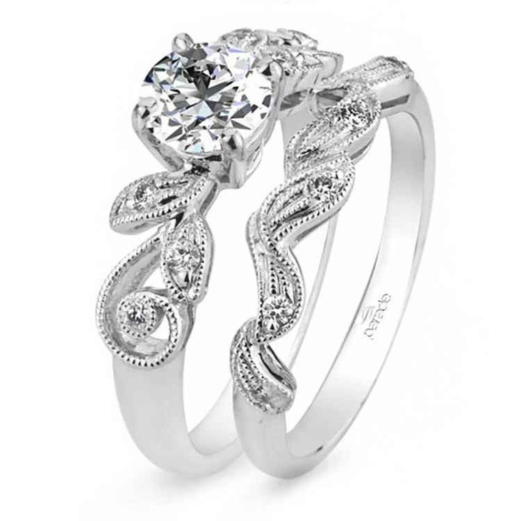 Meandering Vine Diamond Engagement Ring in White Gold by Parade | 02