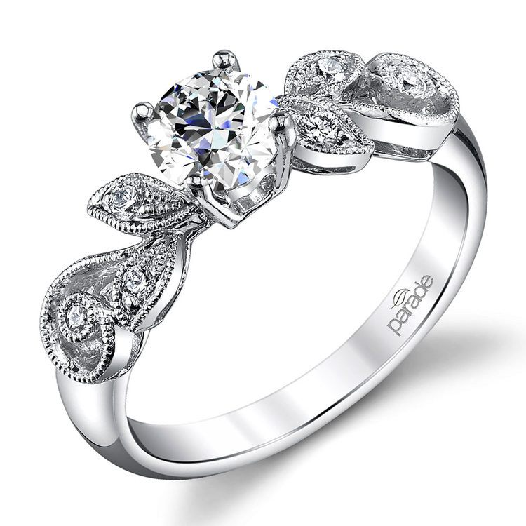Meandering Vine Diamond Engagement Ring in White Gold by Parade | 01