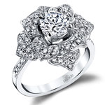 Moonlit Flower Diamond Engagement Ring in White Gold by Parade | Thumbnail 01