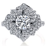 Moonlit Flower Diamond Engagement Ring in White Gold by Parade | Thumbnail 02