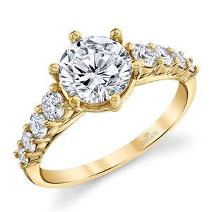 Newly Classic Bridal Yellow Gold Diamond Ring by Parade
