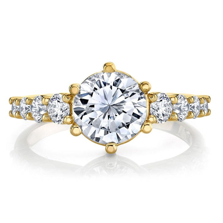 Newly Classic Bridal Yellow Gold Diamond Ring by Parade | 02