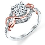 Wrapping Vine Diamond Engagement Ring in White and Rose Gold by Parade | Thumbnail 01