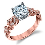 Vintage Milgrain Diamond Engagement Ring with Lyria Crown in Rose Gold by Parade | Thumbnail 01